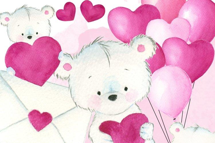 Cute love teddy bear example image 1