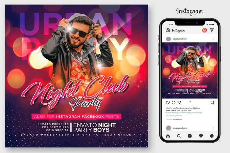 Night Club Party Flyer example image 1