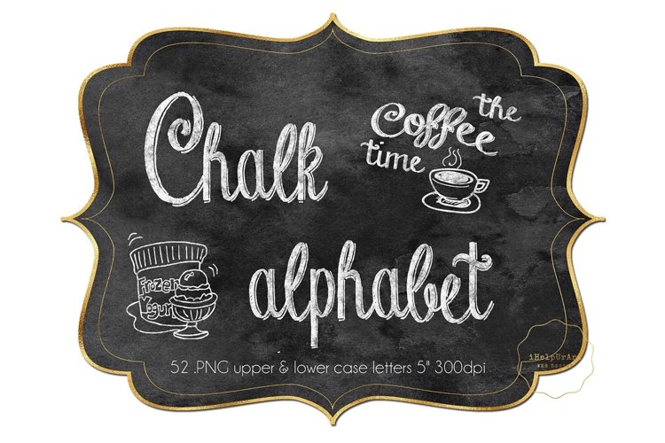 Chalk Alphabet Clipart - Chalkboard Letters