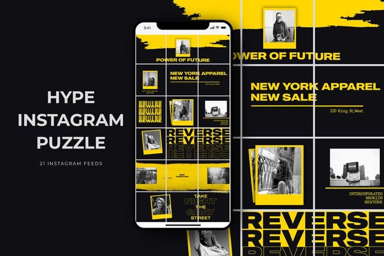 Hype Instagram Puzzle Templates