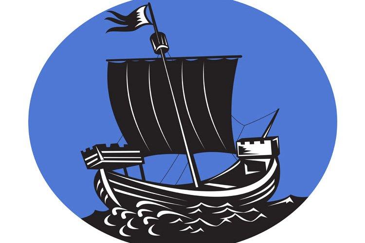 galleon tall ship sailing sea example image 1