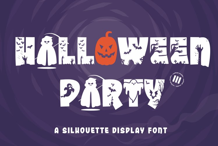 Halloween Party - A Silhouette Display Font example image 1