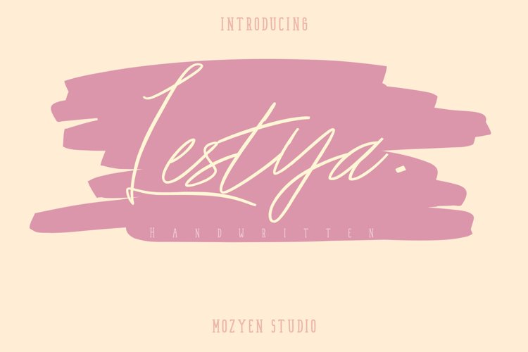 Lestya   Handwritten example image 1