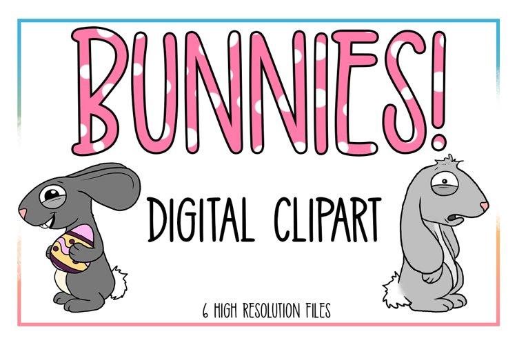 Bunnie Clipart-Rabbit Clipart-Animal Clipart-Easter-Egg-Spring Animals-Spring-Spring Clipart-Easter Egg-Bunnie-Decoration-Digital Clipart example image 1