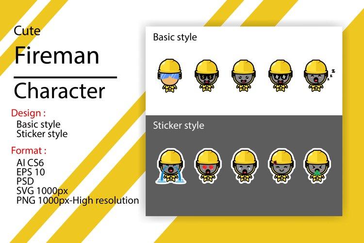 Cute character of technician