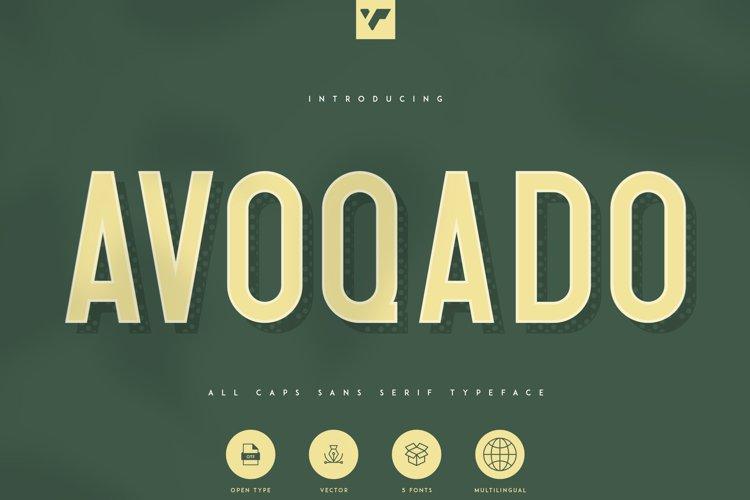 Avoqado - All Caps Sans Typeface example image 1