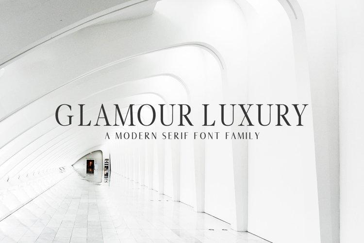 Glamour Luxury Serif Font Family example image 1
