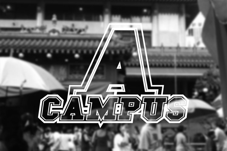 Campus A Font example image 1