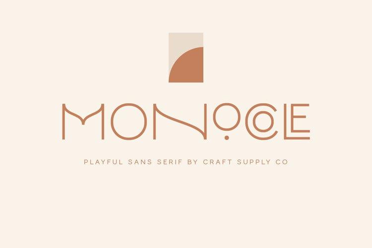 Monocole - Playful Sans Serif example image 1