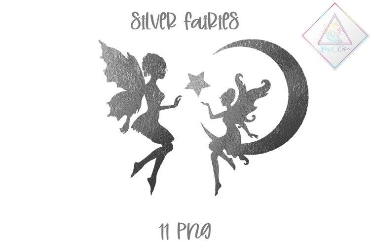 Silver Fairies Clipart