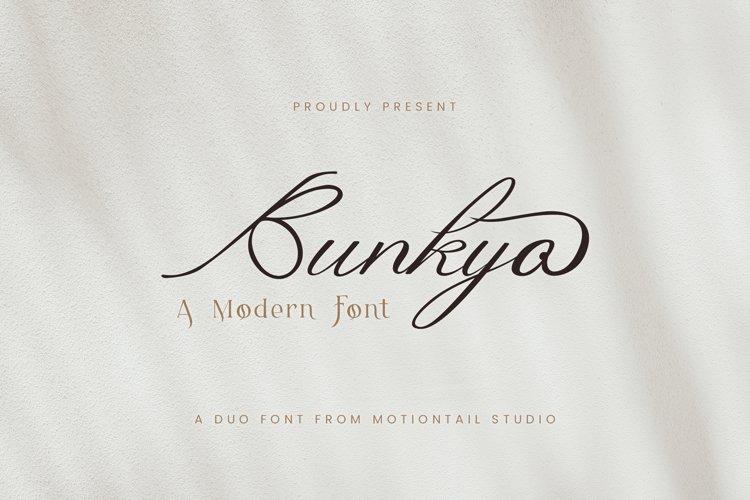 Bunkyo modern font duo example image 1