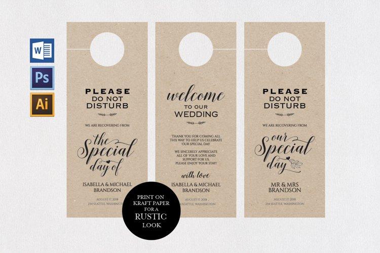 wedding door hanger, TOS_46 example image 1