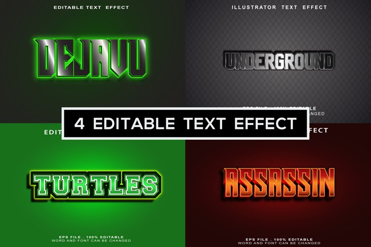 Text Effects words and fonts can be replaced example image 1