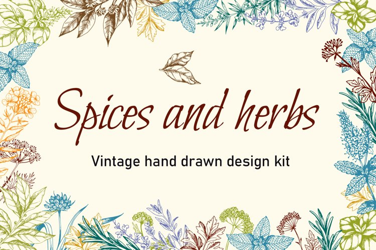 Vintage Spices and Herbs Design Kit