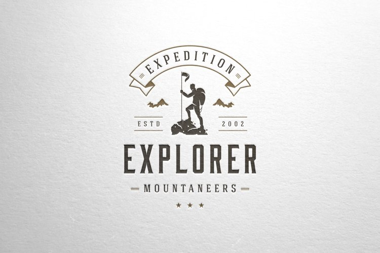 Vector logotype for mountaineers and explorers club example image 1