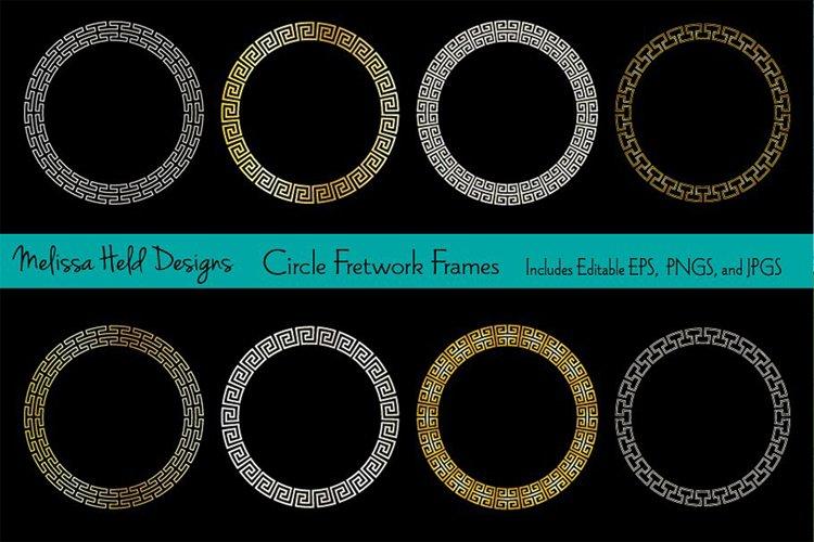 Circle Fretwork Frames