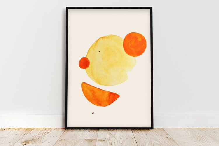 Geometric print art, Boho geometric shapes, Minimalist print example image 1