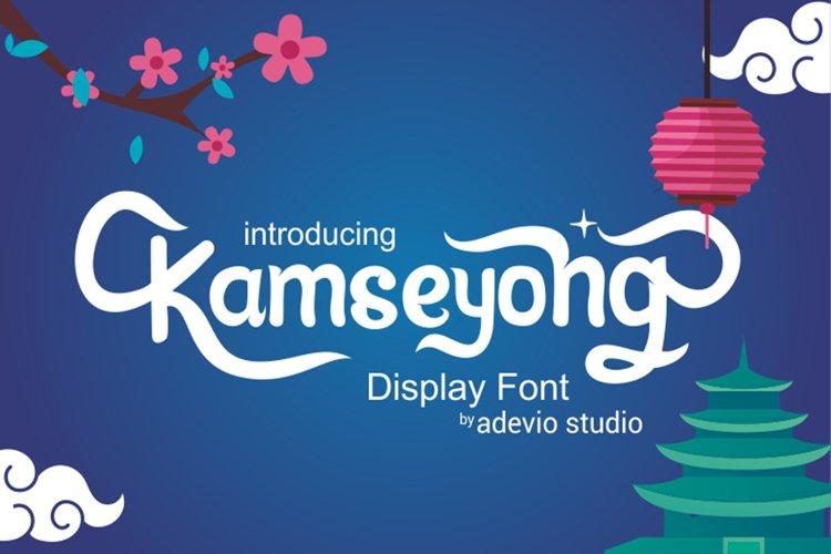 Kamseyong Display font