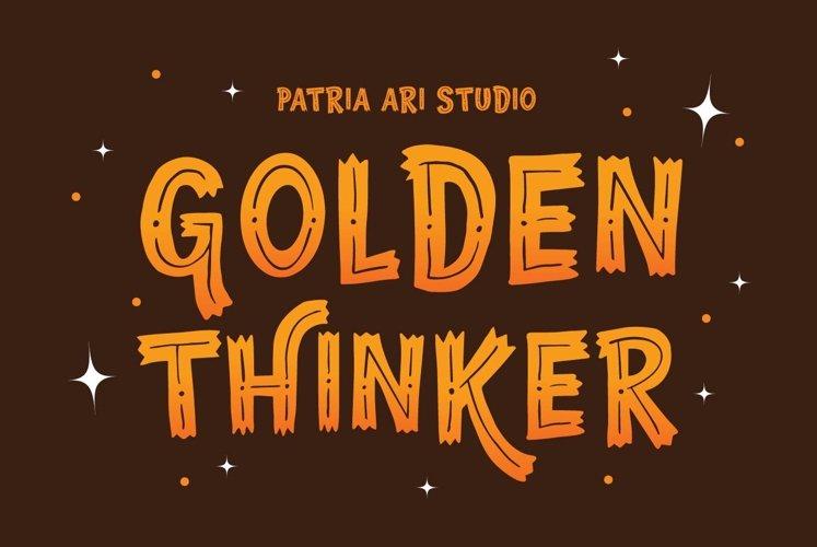 Golden Thinker example image 1