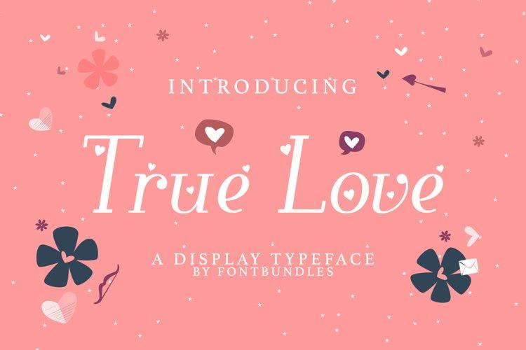 Web Font True Love example image 1