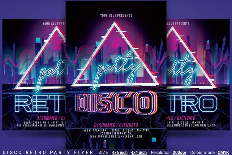 Disco Retro Party Flyer example image 1