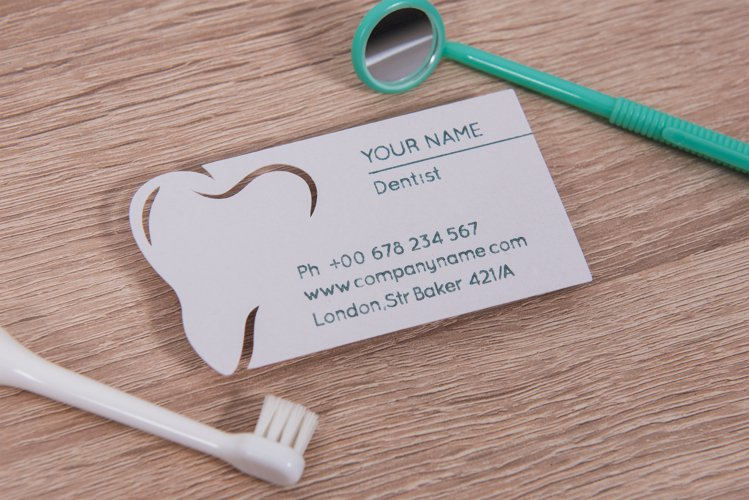 Dentist business card template cutting file example image 1