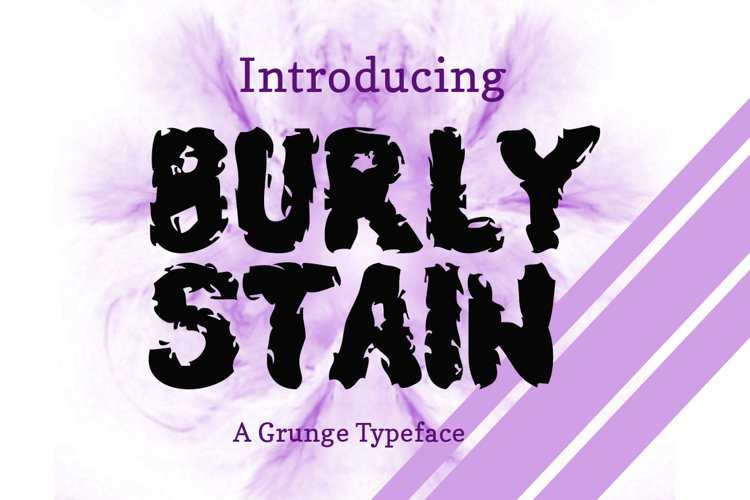 Burly Stain Typeface example image 1