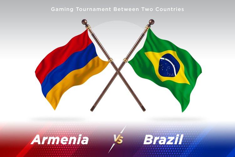Armenia vs Brazil Two Flags example image 1
