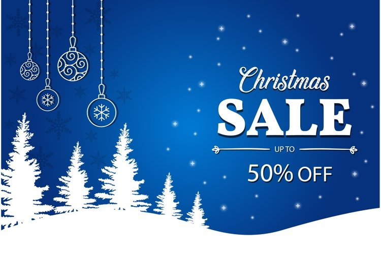 Christmas sale vector poster example image 1