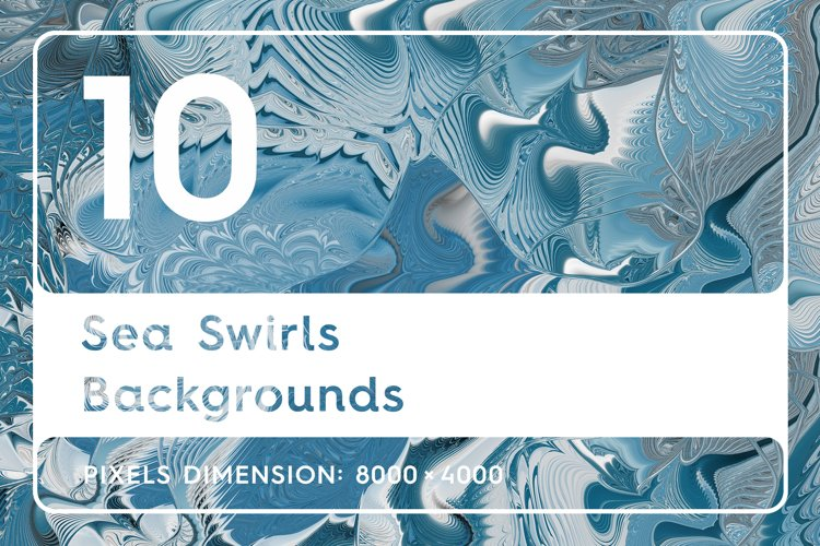 10 Sea Swirls Backgrounds example image 1