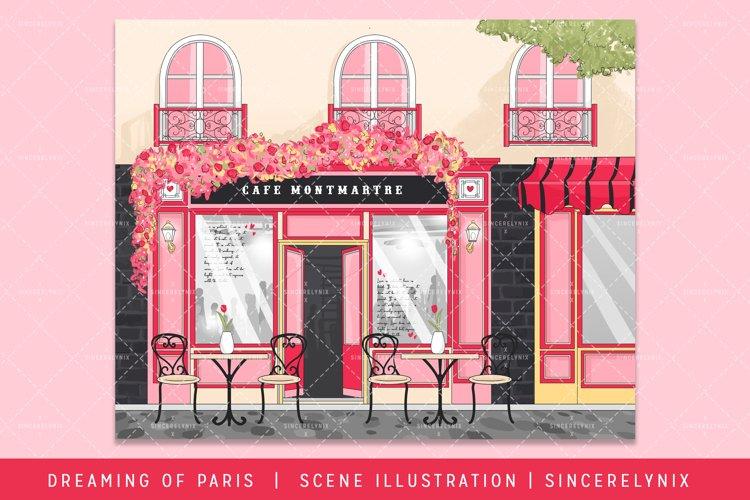 Paris Valentines Holiday Scene Illustration Planner