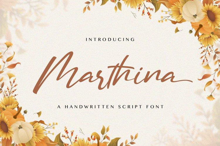 Marthina - Handwritten Font example image 1