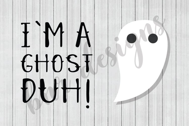 Halloween SVG, Ghost SVG, Boo SVG, SVG Files, DXF File example image 1