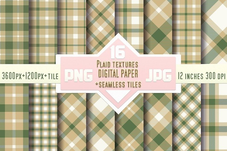 Plaid textures Digital paper with Seamless tiles example image 1