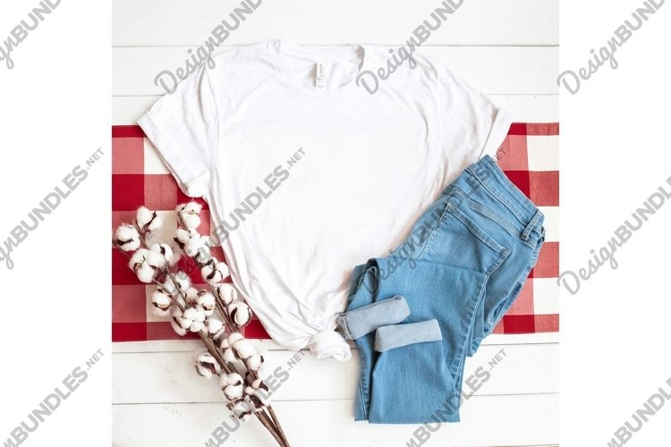 Bella Canvas 3001 White Shirt Apparel Photo example image 1