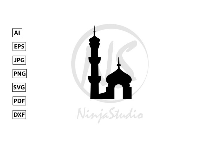 Mosque Icon In Flat Style Vector example image 1