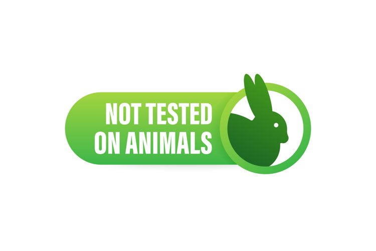 Cruelty free Pink banner. Vegan emblem. Packaging design. Na example image 1
