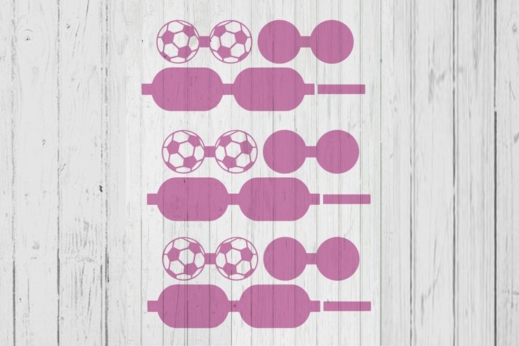Soccer ball hair bow template svg dxf png ai files example image 1
