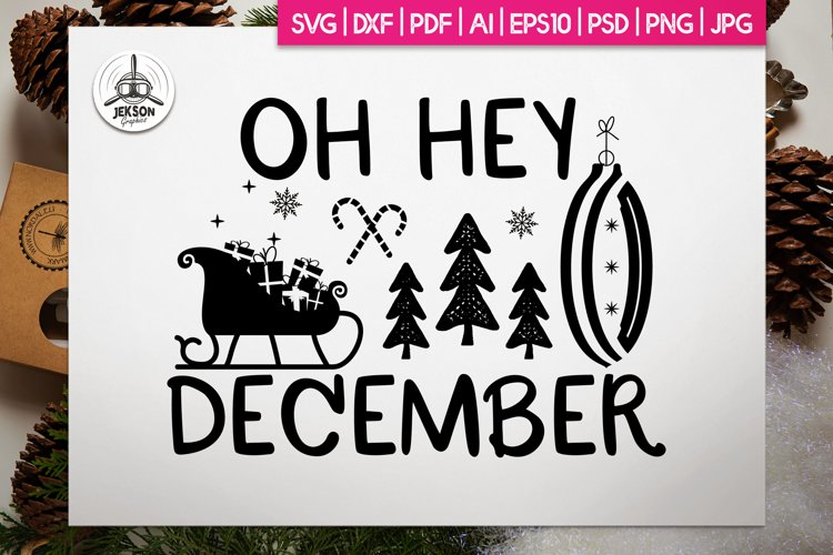 Christmas SVG Quote Design Winter T Shirt December Lettering example image 1