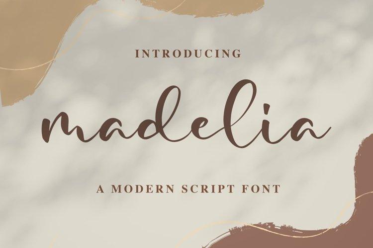 Madelia Modern Script Font example image 1