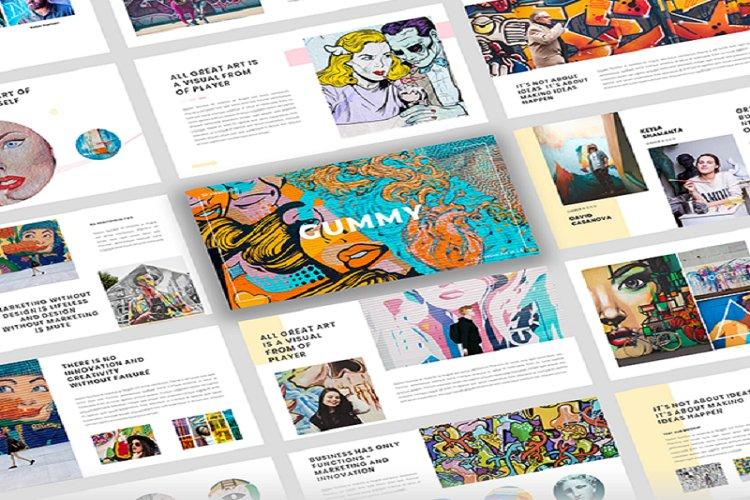 Gummy - Creative Art Google Slide Template