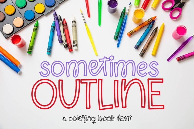 Sometimes Outline - A Coloring Book Font example image 1