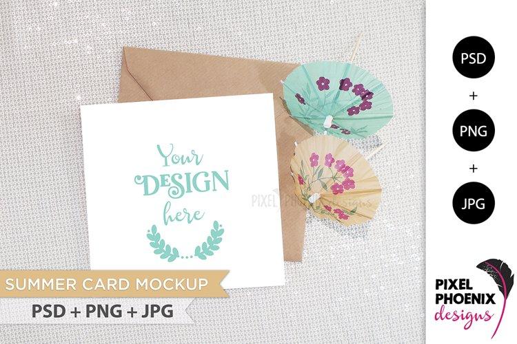 Summer Card Mockup example