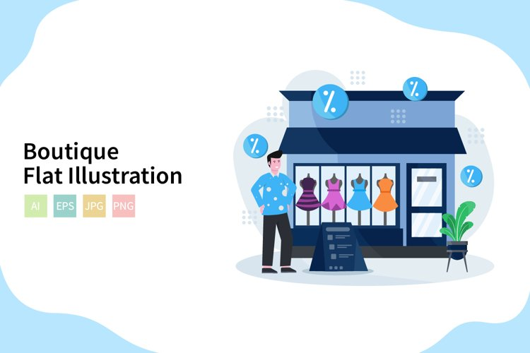 Boutique Vector Illustration In Flat Modern Style example image 1
