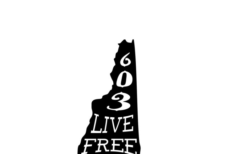 New Hampshire Silhouette - Live Free or Die State example image 1