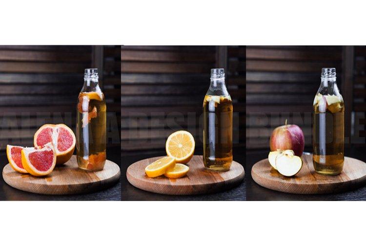 15 Kombucha with fruits photos Rustic style