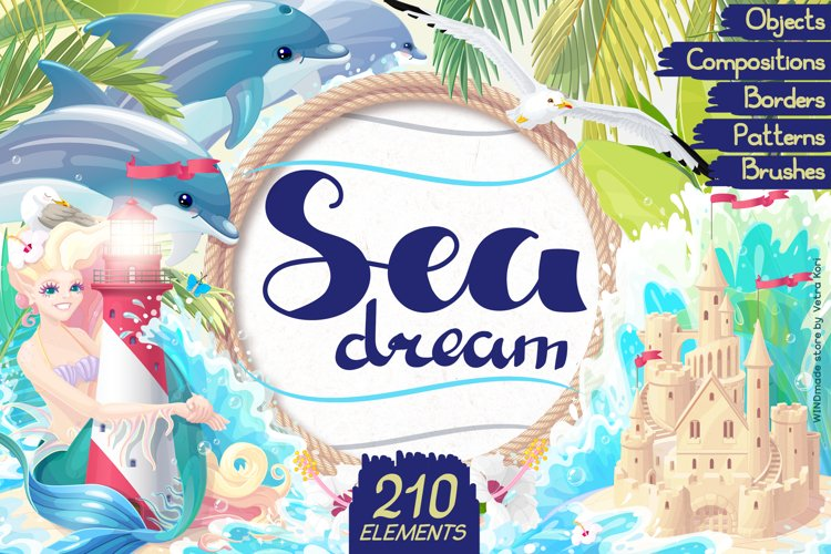vector SET Sea dream