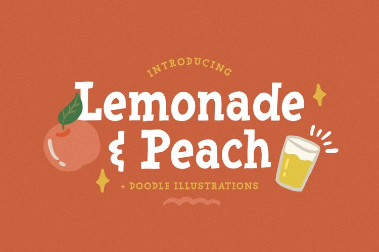 Lemonade and Peach - Display Font example image 1