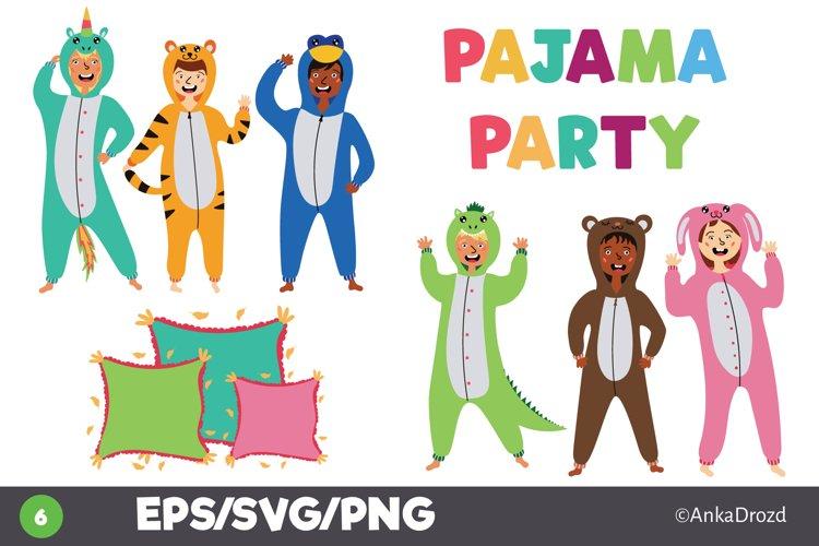 Set Animal pajamas clipart, Digital Kigurumi kids clip art
