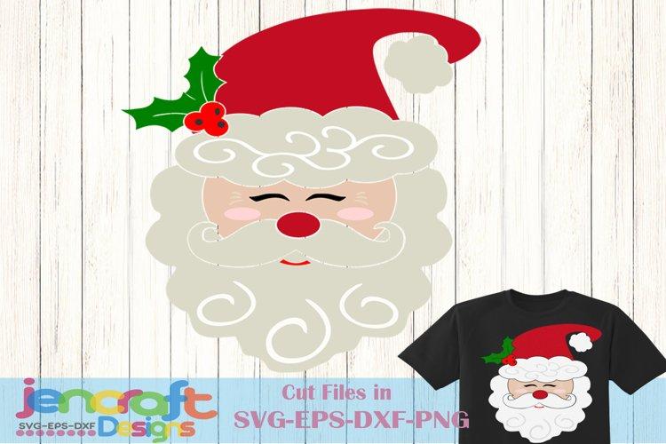 Christmas svg - Santa Claus Svg, Santa Face Svg example image 1